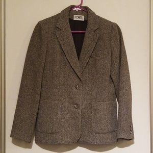 🍭3/$30 KORET Wool Herringbone Blazer Vintage Wool